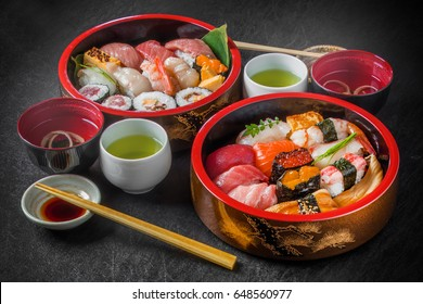 Delicious sushi in Tokyo style
