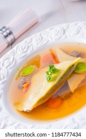Delicious Swabian original! Maultaschen with traditional filling