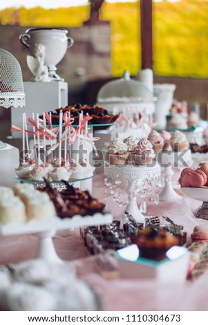 Delicious Sweets On Candy Buffet Wedding Stock Photo Edit Now