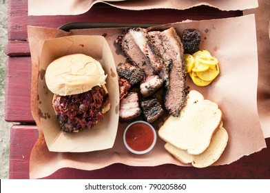 Delicious Texas Barbecue Spread