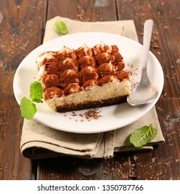 delicious tiramisu cake portion