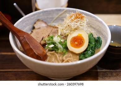 the delicious tonkotsu ramen