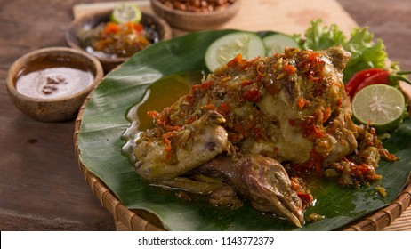delicious traditional indonesian balinese culinary. ayam betutu. steamed or roasted chicken
