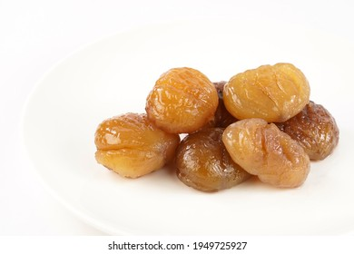 Delicious Turkish candied chestnut  ( Kestane Sekeri ) or marron glace.