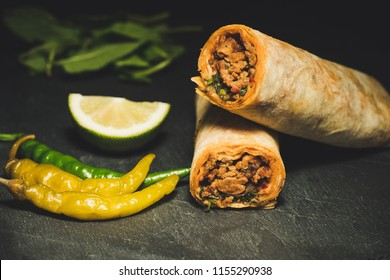 delicious turkish kebab tantuni
