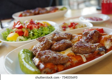 Delicious Turkish Meatball with sauce and salad