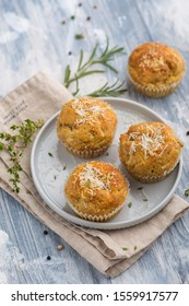 Delicious vegetable muffins with cheese and herbs