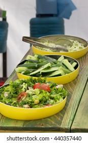 Delicious vegetarian salads