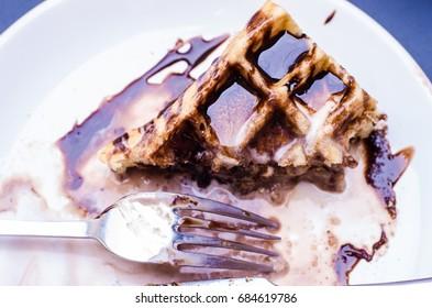 Delicious Waffle,ice cream