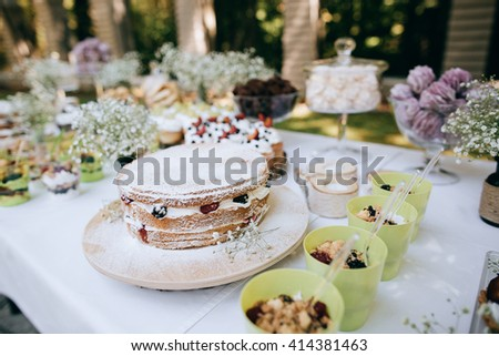 Delicious Wedding Reception Candy Bar Dessert Stock Photo Edit Now