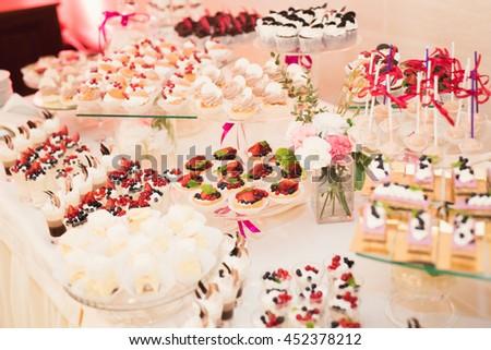 Delicious Wedding Reception Candy Bar Dessert Stock Photo (Edit Now ...