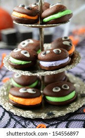 delicious whoopie pies with eyes for halloween