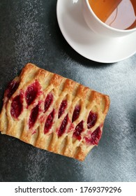 Deliciuos fresh pastries on the table isolated background