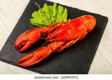 Delicous cuisine - Boiled Lobster ready for eat