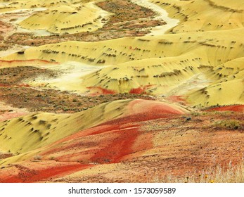 Delightful Desert Design - Bottom land at the foot of the Painted Hills - John Day Fossil Beds National Monument - near Mitchell, OR