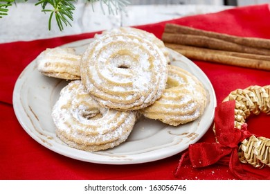 Christmas Wreath Cookies Stock Photos Images Photography