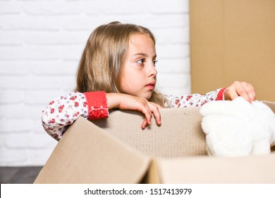 Deliver your treasures. Storage for toys. Relocating delivery services. Delivering happy moments to childhood. Insurance post package. Delivering happiness. Little child open post package with toys.