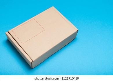 Delivery box parcel, craft cardboard.
