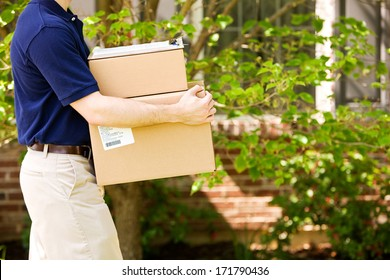 Delivery: Carrying Packages To Front Door