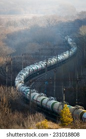 Delivery liquefied natural gas railway transport in Russia.