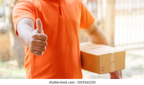 Delivery Man giving thumbs up
