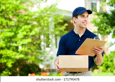 Delivery: Ready To Drop Off Package At House