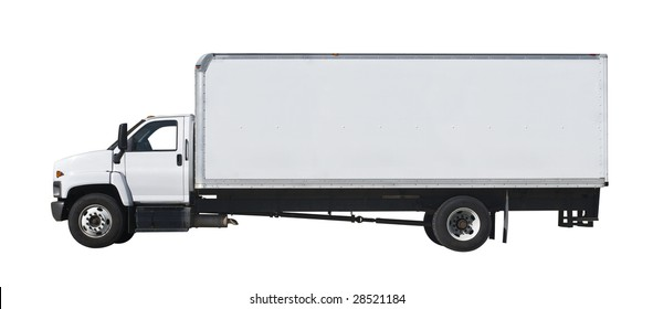 Delivery truck isolated on white background