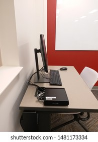 A dell computer in an office (Dell optiplex 7060 micro)  Bloomington, IN, August 14, 2019