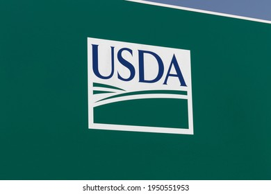 Delphi - Circa April 2021: USDA Service Center. The US Department of Agriculture is responsible for laws related to farming, forestry, and food.