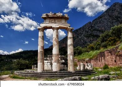 Delphi/Temple of Athena Pronaia