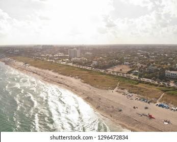 Delray Beach Florida, Coastline Background, Ocean Views, A1A Florida