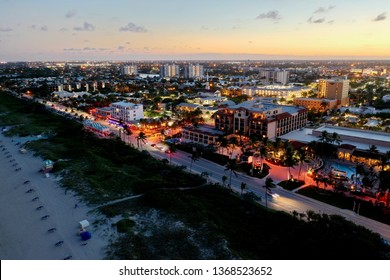 Delray Beach at night, South Florida