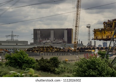 Delta platform decommissioning at Seal Sands in Hartlepool. England.