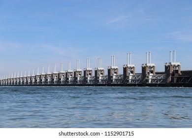 Delta works, water defence barriers in Netherlands, Delta werken