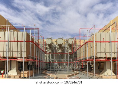Deluge Fire Protection piping installation on a large transformer