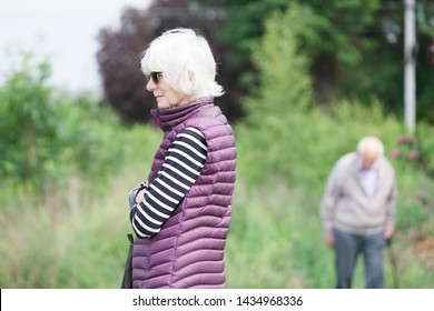 Dementia and Alzheimers brain disease showing on senior old couple