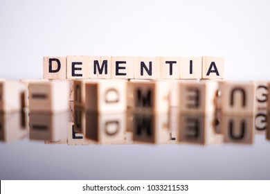 Dementia word cube on reflection