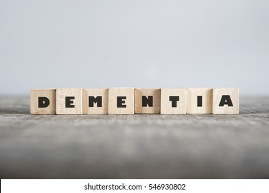 DEMENTIA word made with building blocks