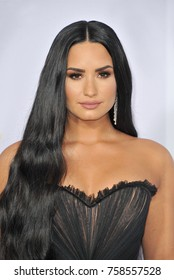 Demi Lovato at the 2017 American Music Awards held at the Microsoft Theater in Los Angeles, USA on November 19, 2017.