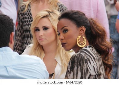 """Demi Lovato and Kelly Rowland at """"The X Factor"""" Los Angeles Auditions, Galen Center, Los Angeles, CA 07-11-13"""