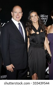 Demi Moore and Price Albert II at the 2009 Rodeo Drive Walk Of Style Award Ceremony Honoring Princess Grace Of Monaco held at the Rodeo Drive in Beverly Hills on October 22, 2009.