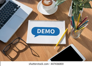 DEMO (Demo Preview  Ideal) open book on table and coffee Business