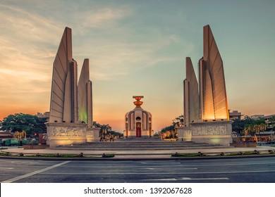 Democracy monument in Bangkok, Thailand