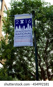 Democratic National Convention Sign in Philadelphia occurring between July 25 and July 28, 2016