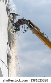 Demolation of an urban building.
