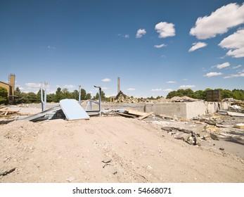 Demolished Neighborhood on a sunny day