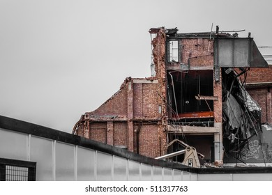 Demolition of a building in Streatham Hill, London