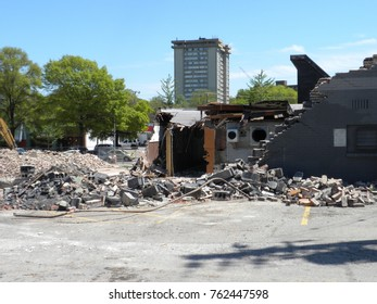 Demolition in the city