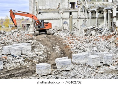 Demolition and dismantling of the remnants of the large industrial enterprise.