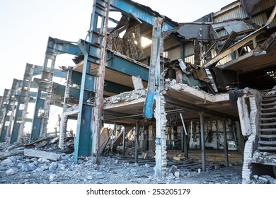 Demolition of a factory building